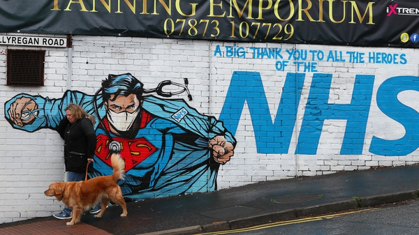 A mural thanking the NHS on Ballyregan Road in East Belfast