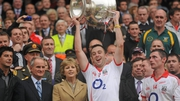 Paul Kerrigan celebrates with the Sam Maguire trophy in 2010