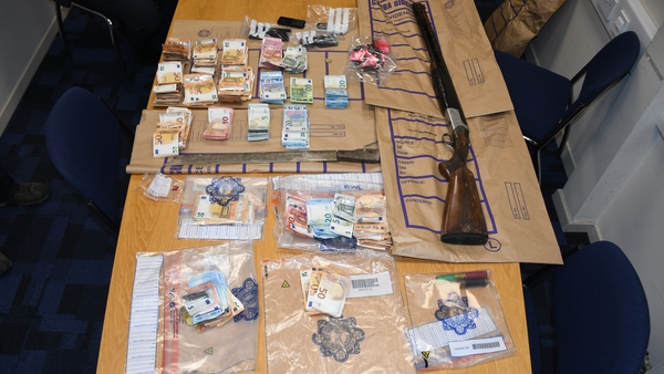Drugs, cash and a shotgun were found during searches in Waterford city