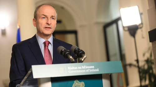 The Taoiseach announced the new measures at Government Buildings
