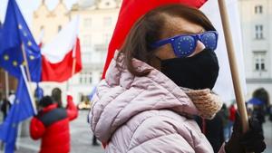 People attend pro-EU rally in Krakow earlier in the week