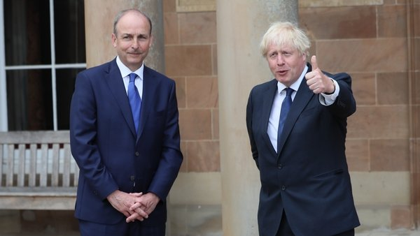 Micheál Martin and Boris Johnson discussed UK-EU negotiations (file image)