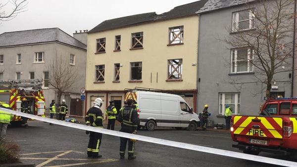 Emergency services at the scene in Ashe Street, Tralee, Co Kerry
