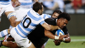 Ardie Savea crosses the line for New Zealand