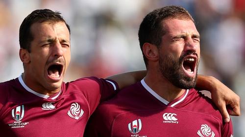 Georgia captain Merab Sharikadze says Ireland remain among the world's best teams