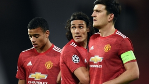 Mason Greenwood (L) can learn a lot from verteran striker Edison Cavani (C) according to Ole Gunnar Solskjaer.