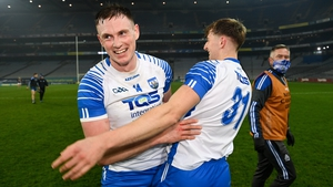 Austin Gleeson (L) and Jack Fagan celebrate after Waterford's win