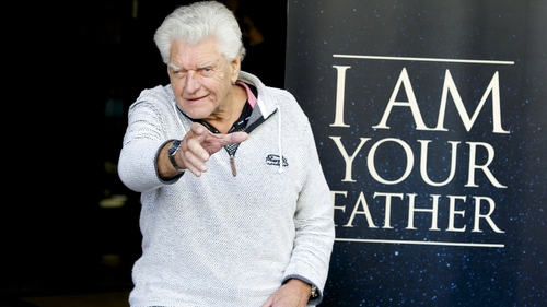 Dave Prowse pictured in 2015 while promoting the documentary I Am Your Father
