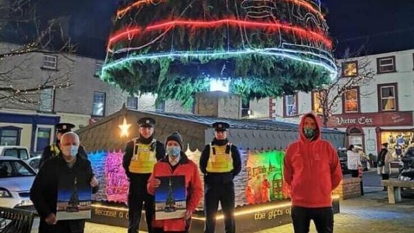 Mountmellick locals celebrate the tree-lighting ceremony