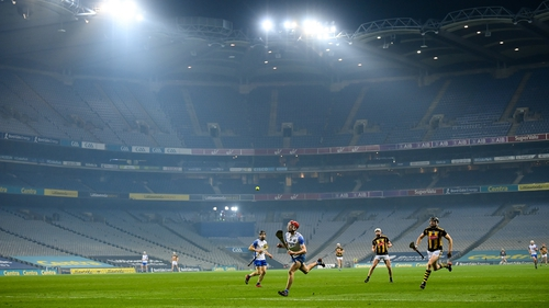The stands were empty for yesterday's All-Ireland SHC semi-final.