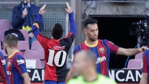 Messi celebrated his goal by revealing a red and black replica kit of his hometown club Newell's Old Boys bearing the number 10 which Maradona wore during his brief spell at the Rosario side in 1993