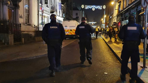 An Garda Síochána said everyone present left without incident and no arrests were made