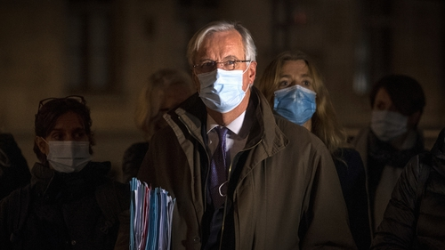 EU's chief negotiator Michel Barnier seen leaving the BEIS Conference Centre, central London, last night