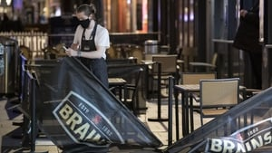 Bars, restaurants and cafes in Wales will have to shut by 6pm from Friday (file image)