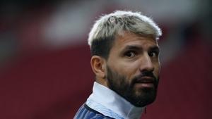 Aguero's season has been hampered by injury