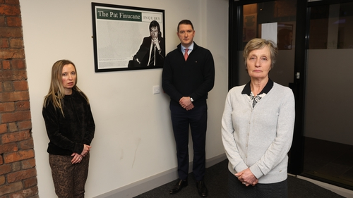 Katherine Finucane, with her brother John and mother Geraldine at the office of Finucane Toner in Belfast