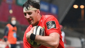 Thomas Ahern scored the last of Munster's eight tries