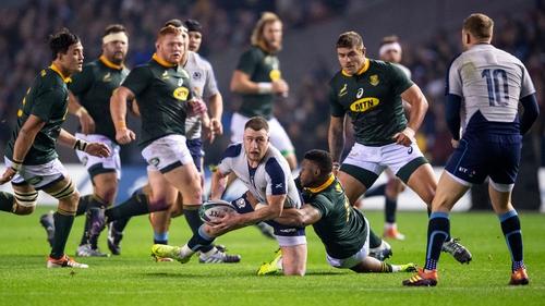 The Scots last faced the Springboks in 2018