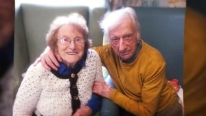 Angela Coogan's father George, who recently passed away, with her mother Nancy