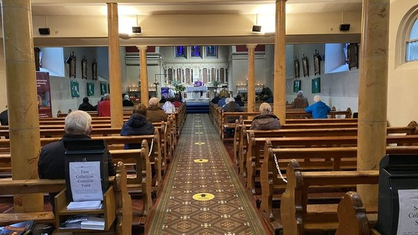 People returned to churches for daily mass as Level 5 restrictions were eased