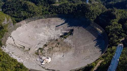 Damage at the Arecibo Observatory in Puerto Rico