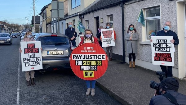 As well as the constituency office (pictured) of Micheál Martin, protests also being held the offices of Michael McGrath and Simon Coveney