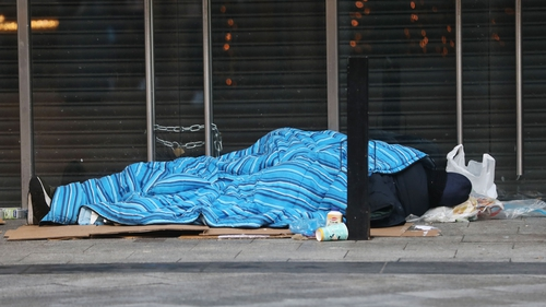 The count found that most rough sleepers are male, Irish and aged between 25 and 44