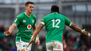 Johnny Sexton and Bundee Aki both return to the Ireland XV for this weekend's Autumn Nations Cup play-off clash with Scotland