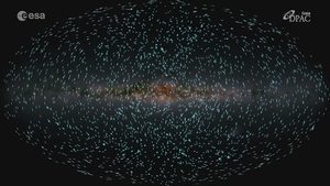 The map contains data gathered by the Gaia observatory which took off from Earth in 2013 (Pic: Courtesy of ESA)