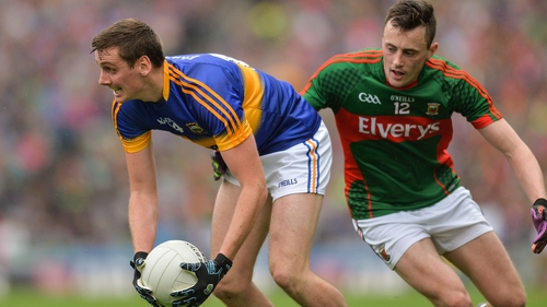 Conor Sweeney in action against Diarmuid O'Connor during the 2016 All-Ireland semi-final