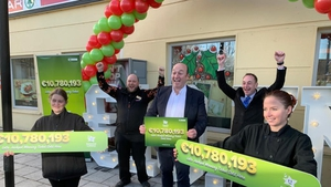 Manager Shane Cantillon and staff at the Spar store in Mount Oval, Rochestown