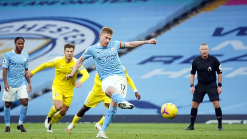 Kevin De Bruyne slots home City's second
