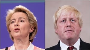 Both Ms Von der Leyen and Mr Johnson have agreed to speak again on Monday evening