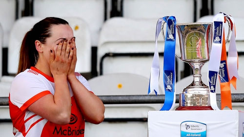 Armagh's Orlagh Murray is overcome with emotion