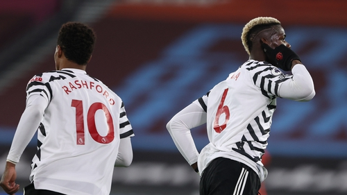 Paul Pogba celebrates after scoring the equaliser