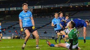 Robbie McDaid celebrates his late goal for Dublin