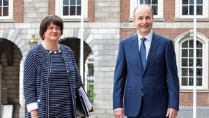 Arlene Foster requested a meeting with Taoiseach Micheál Martin (file image)