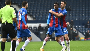 Crystal Palace's Wilfried Zaha (centre) scored twice in the 5-1 win against West Brom