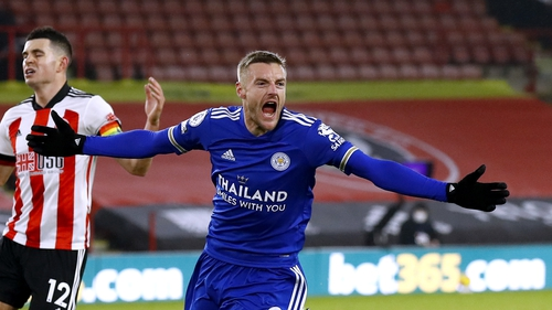 Vardy scored the winner in stoppage time