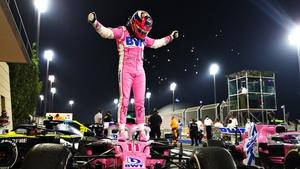 Race winner Sergio Perez