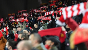 There were 1500 fans on the Kop for Liverpool's win over Wolves