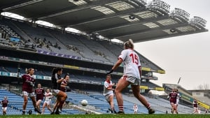 Cork's Ciara O'Sullivan scores one of Cork's first-half goals in the All-Ireland semi-final victory over Galway