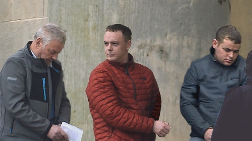 Luke O'Reilly, Darren Redmond and Alan O'Brien (L-R) are accused along with a man who cannot be named for legal reasons