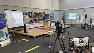 The radio link set up at Athlone Community College