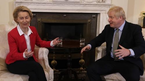 Ursula von der Leyen and Boris Johnson are set to meet in person (File pic)