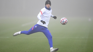 Kai Havertz training at Chelsea's Cobham facility on Monday