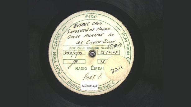 Acetate Disc Collection - Maud Gonne interview, 28 December 1945, QAC000639A