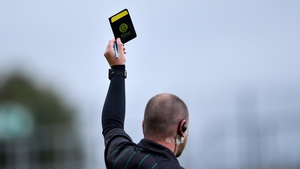 A black card is shown in football for 'deliberate' cynical play