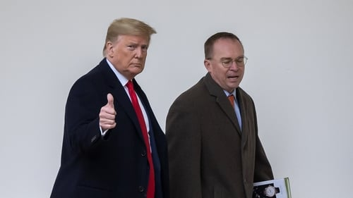Mick Mulvaney (R) said the agreement was 'good news' (File pic)