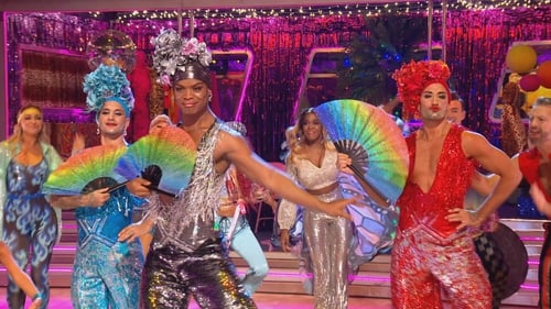 The Strictly professionals performed to a medley of songs from Priscilla Queen of the Desert